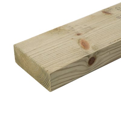 47mm x 125mm Structural Graded C24 Treated Carcassing Timber 4200mm (5'' x 2'')