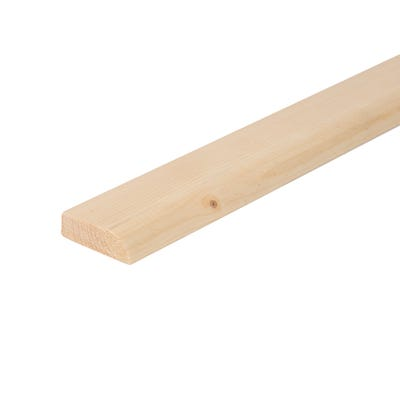 19mm x 50mm Softwood Bullnose Architrave (Finish 14.5mm x 44mm)
