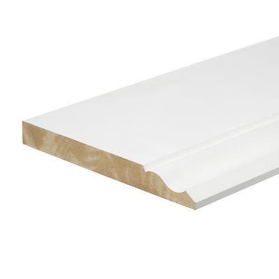 18mm x 168mm MDF White Primed Ogee Skirting Board 4400mm