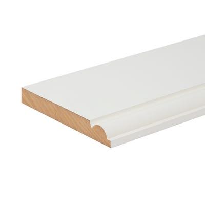 18mm x 144mm MDF White Primed Torus Skirting Board 4400mm