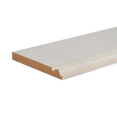 18mm x 168mm MDF White Primed Torus Skirting Board 4400mm