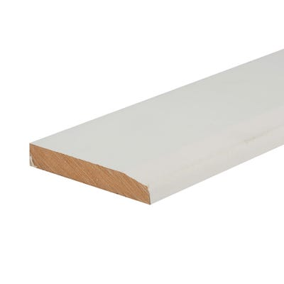 18mm x 119mm MDF White Primed Chamfered Skirting Board 4400mm