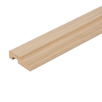 18mm x 69mm MDF White Oak Veneered Torus Architrave 4400mm