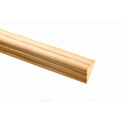 33mm x 15mm Richard Burbidge Pine Double Astragal Moulding 2400mm FB384 Pack of 10