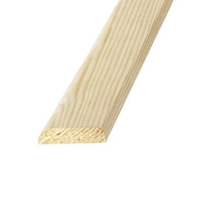 34mm x 8mm Richard Burbidge Pine Flat D Shape Moulding 2400mm FB410 Pack of 20