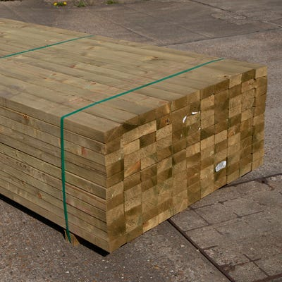 47mm x 100mm Structural Graded C24 Treated Carcassing Timber 6000mm (4'' x 2'') Pack of 121