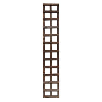 6' x 1' Brown Treated Square Trellis