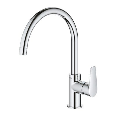 Grohe Bauedge Single Lever Kitchen Mixer Tap Chrome