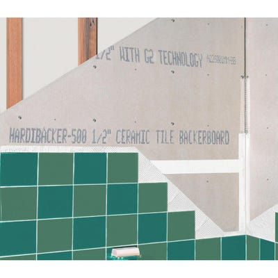 12mm HardieBacker 500 Fibre Cement Tile Backer Board 1200mm x 800mm (4' x 2.6')