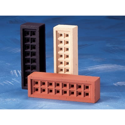 215mm x 215mm x 50mm Redbank Clay Square Hole Air Brick Buff