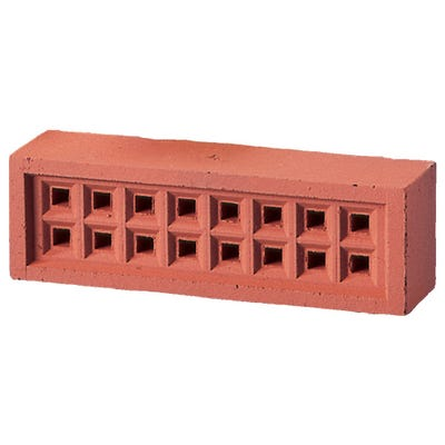 215mm 65mm x 50mm Redbank Clay Square Hole Air Brick Red
