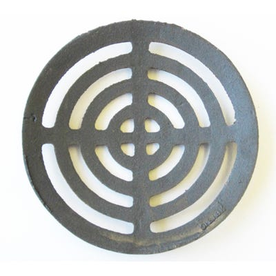 191mm Ø x 9mm Gully Grating Circular Grid Black Coated