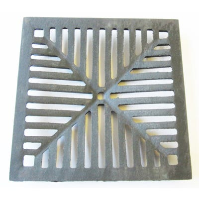 305mm x 350mm x 13mm Gully Grating Square Grid Black Coated