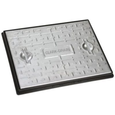 600mm x 450mm Clark-Drain 5T GPW Galvanised Steel Solid Top Manhole Cover & Frame