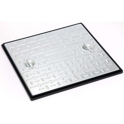 600mm x 600mm Clark-Drain 5T GPW Galvanised Steel Solid Top Manhole Cover & Frame