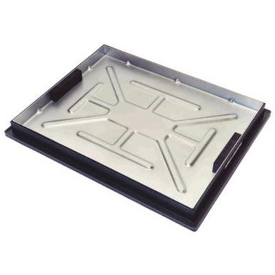 600mm x 450mm Clark-Drain 5T GPW Recessed Manhole Cover & Frame Concrete Infill