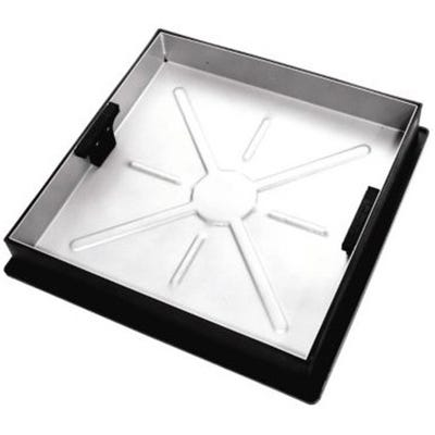 450mm x 450mm Clark-Drain 10T GPW Square to Round Block Paviour Manhole Cover & Frame
