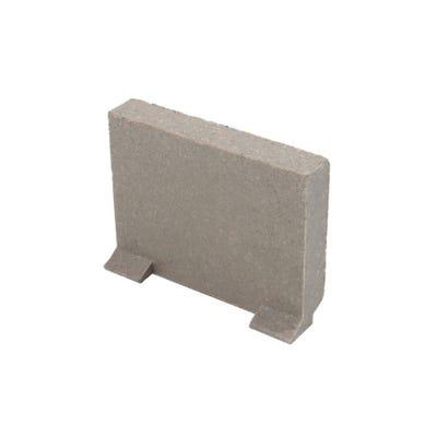 Clark-Drain Polymer Concrete Plain End Cap For Polymer Concrete Domestic Channel