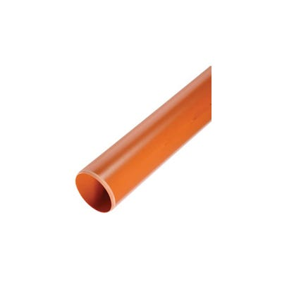 110mm Polypipe Underground Pipe Plain Ended 6000mm UG460