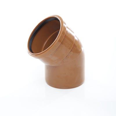 110mm Polypipe 45° Short Radius Bend Single Socket UG404