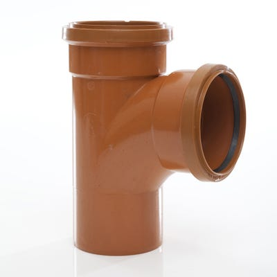 110mm Polypipe 87.5° Equal Junction Double Socket UG424