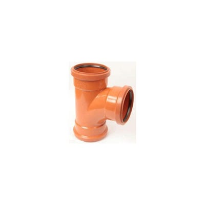 110mm Polypipe 87.5° Equal Junction Triple Socket UG423