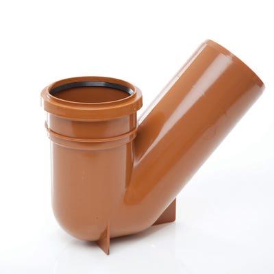110mm Polypipe 45° Universal Gully Trap Socket Spigot UG413