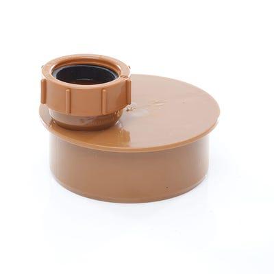 110mm Polypipe Single Waste Pipe Adaptor 40mm UG456