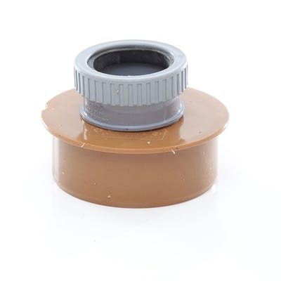 110mm Polypipe Single Waste Pipe Adaptor 50mm UG457