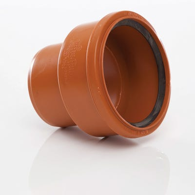 110mm Polypipe Clay Socket to PVC Spigot Adaptor UG487