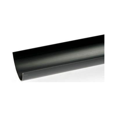 112mm Polypipe Half Round Gutter 4000mm Black RR101B