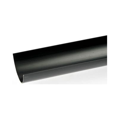 112mm Polypipe Half Round Gutter 4000mm Black RR101B
