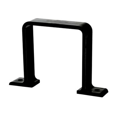 65mm Polypipe Square Downpipe Flush Fit Bracket Black RS236B