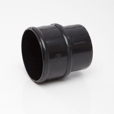 68mm Polypipe Round Downpipe Connector Black RR125B