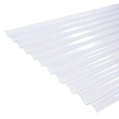 Clear Corrugated PVC Roof Sheet 755mm x 1828mm (6' x 2.5')