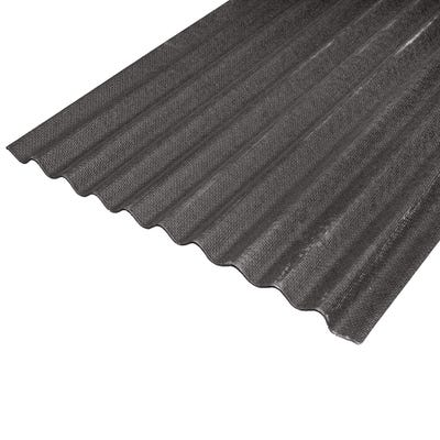 930mm Black Corrugated Bitumen Roof Sheet 2000mm (6.5' x 3')