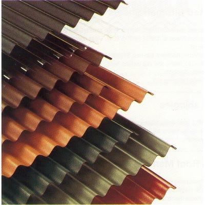 930mm Green Corrugated Bitumen Roof Sheet 2000mm (6.5' x 3')
