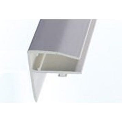 10mm Side Flashing For Twinwall Polycarbonate Roof Sheet White 3000mm