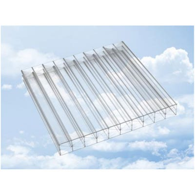16mm Clear Triplewall Polycarbonate Roof Sheet 980mm x 3000mm (10' x 3.2')
