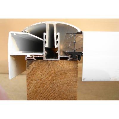 Aluminium Glazing Bar & Cap For Polycarbonate Roof Sheet White 3000mm