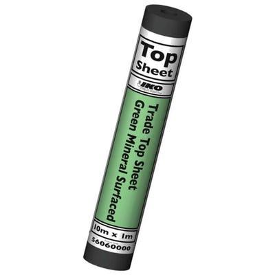 1000mm x 10m IKO Trade Felt Top Sheet Green Mineral Cap