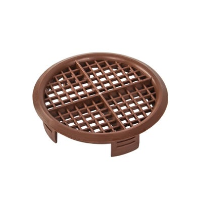 70mm Round Soffit Vent Brown