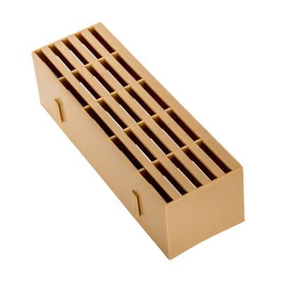9'' x 3'' Plastic Air Brick Buff
