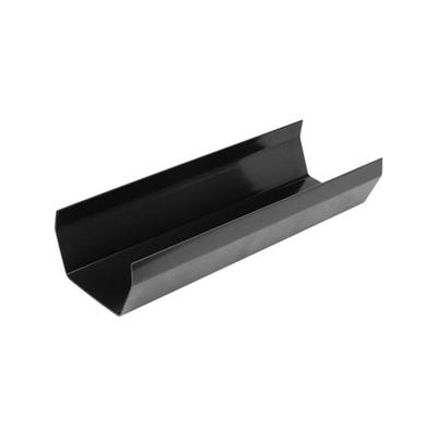 112mm Polypipe Square Gutter 4000mm Black RS201B