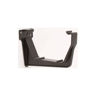 112mm Polypipe Square Gutter Fascia Bracket Black RS209B