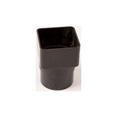 65mm Polypipe Square to Round Downpipe Adaptor Black RS231B