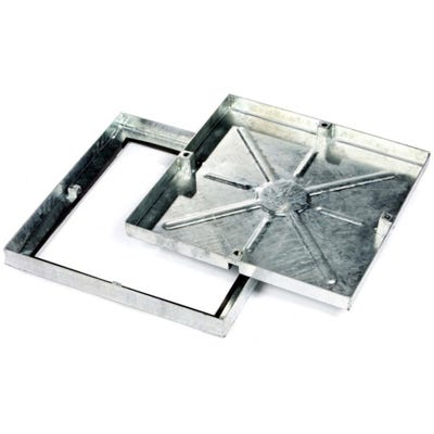 450mm x 450mm Clark-Drain 5T GPW Recessed Manhole Cover & Frame Concrete Infill