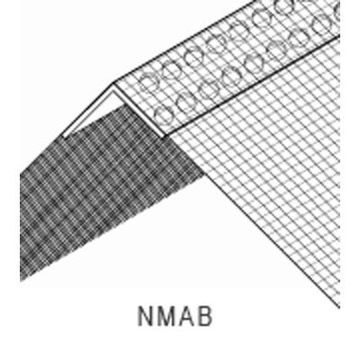 Noseless Speed Pro PVC Mesh Angle Bead White 2500mm