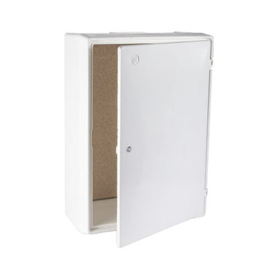 Electric Meter Box Surface Mounted White 400mm x 600mm x 220mm