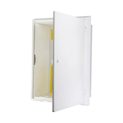 Gas Meter Box Surface Mounted White 408mm x 503mm x 224mm